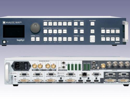 Nieuw in de verhuur: AnalogWay Saphyr SPX450 Seamless Switcher